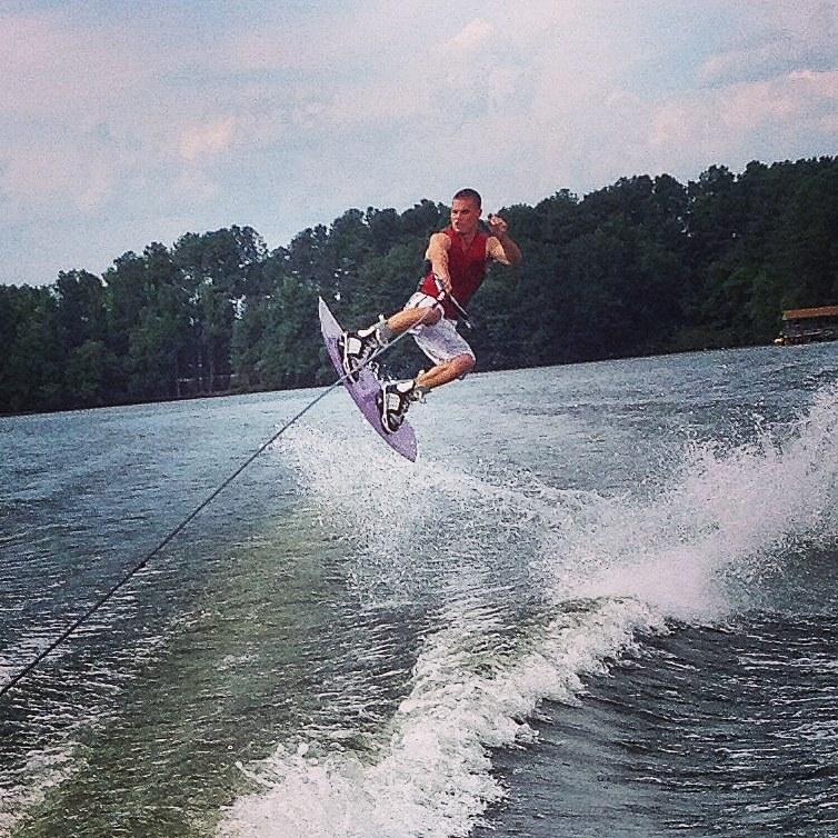 Wakeboarder on Lake Gaston